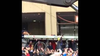Gronk party rocking at the Pats parade updated
