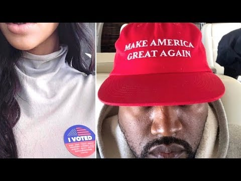 Kim Kardashian Proudly Votes As Kanye West Stays Politically M.I.A.