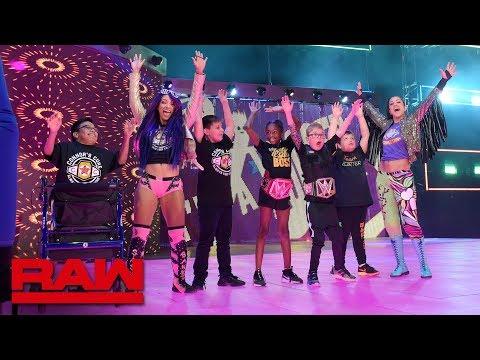 Bayley & Sasha introduce Dallas' Superstars of Tomorrow to the WWE Universe: Raw, Sept. 17, 2018