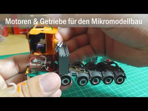 Drive concepts for trucks and cars in micro-model construction, RC 1:87 from YouTube · Duration:  10 minutes 20 seconds