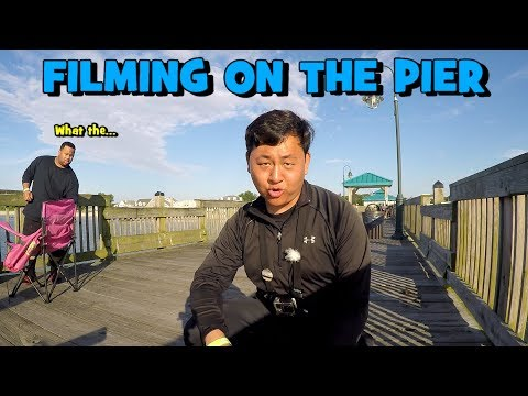 Getting WEIRD LOOKS While Fishing! Exploring The BUCKROE PIER! Newport News EP3