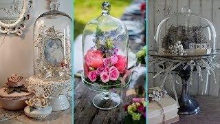 ❤ DIY Shabby chic style Glass Cloche decor Ideas ❤ | Home decor & Interior design |  Flamingo Mango|