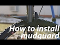 How to install mountain bike mudguard
