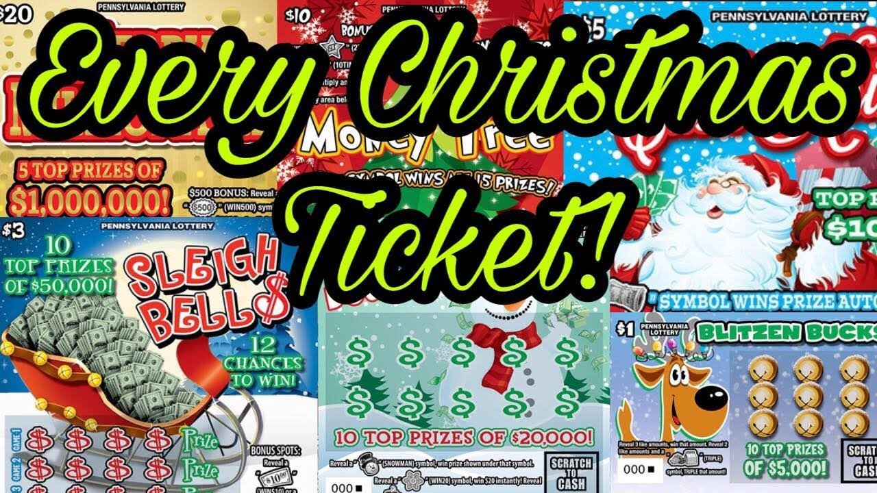 I Bought Every Christmas Lottery Ticket! Pa Scratch Offs! 2018