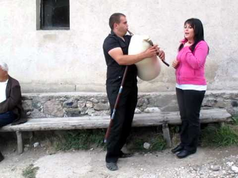 Music performed in a Bulgarian village