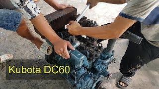 Ráp con máy Kubota DC60   Máy gặt đập liên hợp
