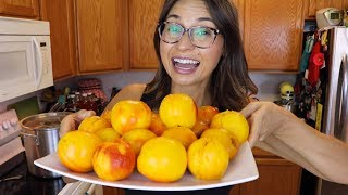 HOW TO PEEL PEAĊHES FAST & EASILY!!