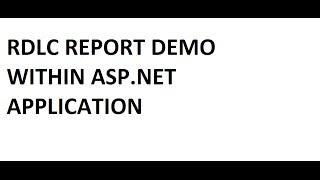كيفية إنشاء و عرض بسيط RDLC التقرير في ASP.NET (C#) ?