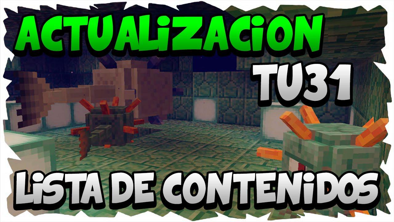 Lista Completa de Contenidos de TU31 | Minecraft Xbox 360/One/Ps3 ...