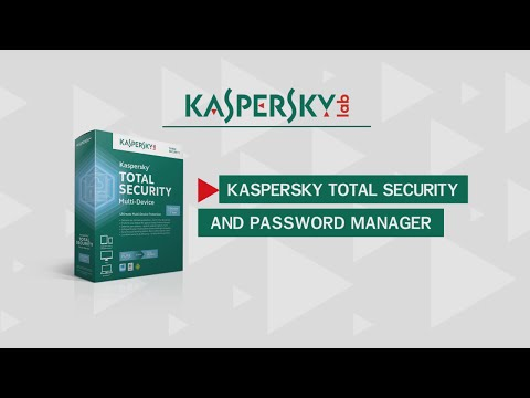 Kaspersky Total Security and Password Manager