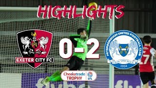 Exeter City 0 Peterborough United 2 (4/12/18) Checkatrade Trophy second round