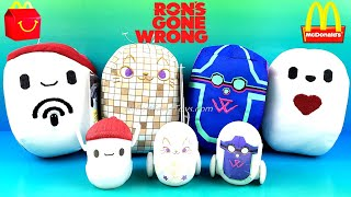 DISNEY RON'S GONE WRONG SOUND GLOW IN THE DARK BBOT SET 4 ROBOTS VS McDONALD'S HAPPY MEAL TOYS 2021