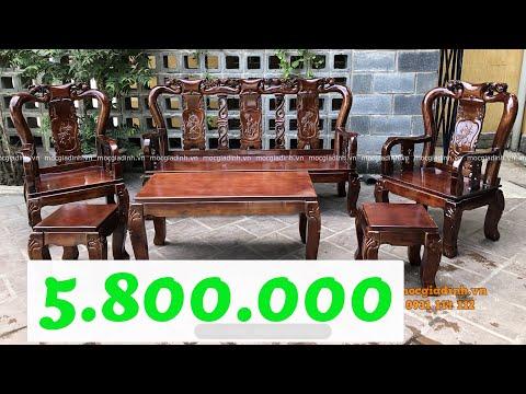 Bộ bàn ghế gỗ salon phòng khách giá rẻ đỉnh đào