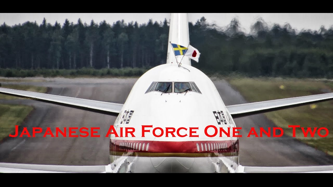 Download Japanese Air Force One and Two | Prime Minister Shinzō Abe | Landing @ Stockholm Arlanda Airport