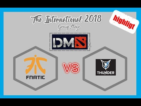 Fnatic VS VGJ.Thunder || TI8 Group Stage Day 1 Dota2 Highlight