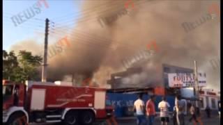 Φωτιά σε καταυλισμό Ρομά στο Ρέντη