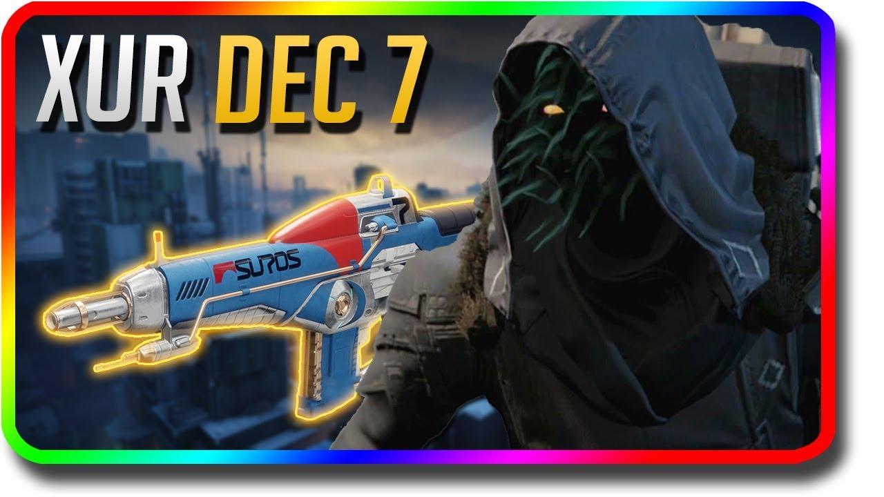 "Destiny 2 – Xur Location & Exotic Armor Perk Rolls ""Suros Regime"" 12/7/2018 (Xur December 7) #Regime"