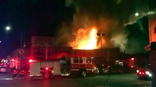 Repeat youtube video 9 die in California building fire