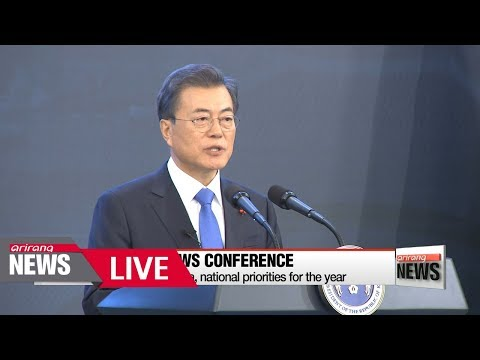 [LIVE/ARIRANG NEWS] South Korea's President Moon Jae-in willing to sit down with North Korea's ...