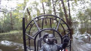 Turnigy 4000kv Brushless Edf Rc Airboat Adventure In Flooded Swamp Gopro Pov