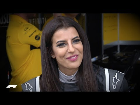Saudi Arabia's Aseel Al-Hamad Drives In Renault Parade | 2018 French Grand Prix