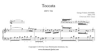 Handel : Toccata in G minor, HWV 586