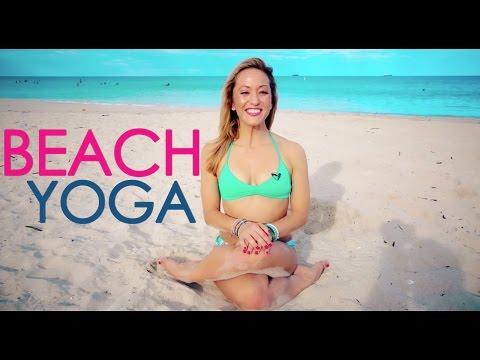 One Hour Beach Yoga Class with Kino
