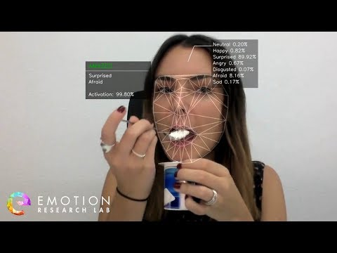 Product test with facial recognition of emotions