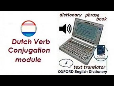 Dutch Verb Conjugation Nederlands Engels werkwoord vervoeging woordenboek dictionary translator