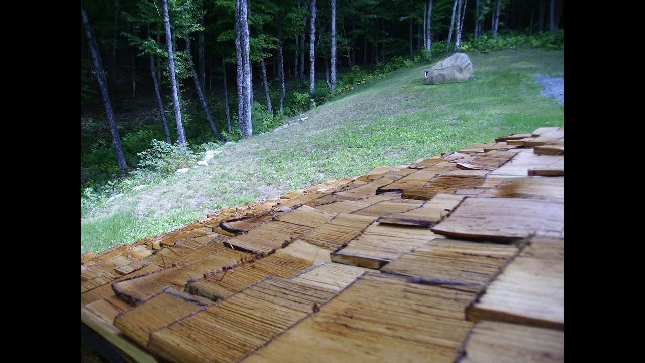 Home Cut Homemade Cedar Shingles Youtube