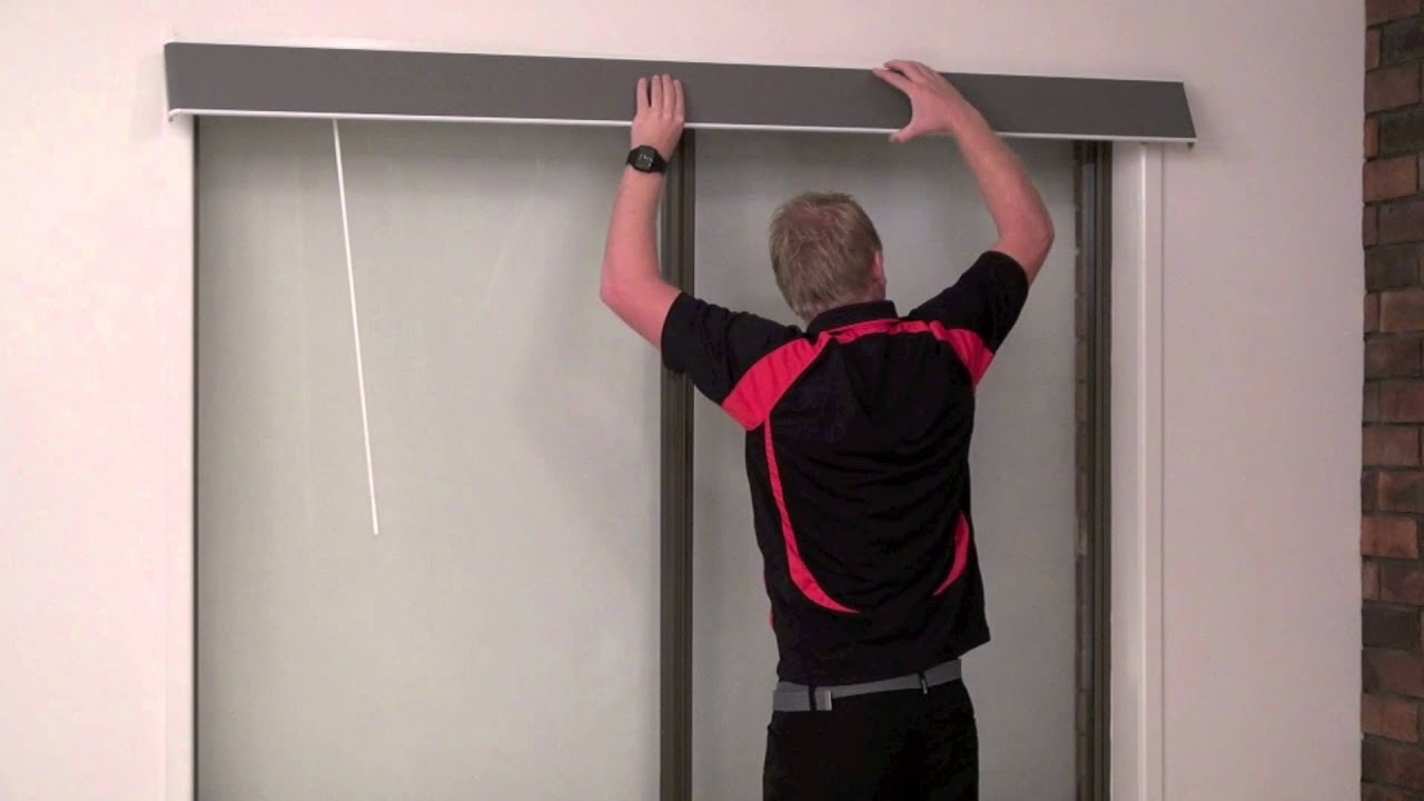 How To Install A Vertical Blind Pelmet Youtube