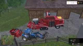 farming Simulator 15 ОБУЧЕНИЕ  КАК  ИГРАТЬ  ПО  СЕТИ