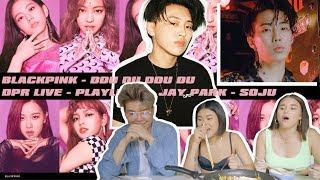 BLACKPINK - '뚜두뚜두 (DDU-DU DDU-DU)' M/V, DPR LIVE & JAY PARK [REACTION] | Music Mukbang
