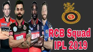 Royal Challengers Bangalore Team Squad IPL 2019 | RCB Full team squad IPL 2019 | by HS Sports 13