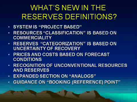 2007-2008: Petroleum Reserves Estimates