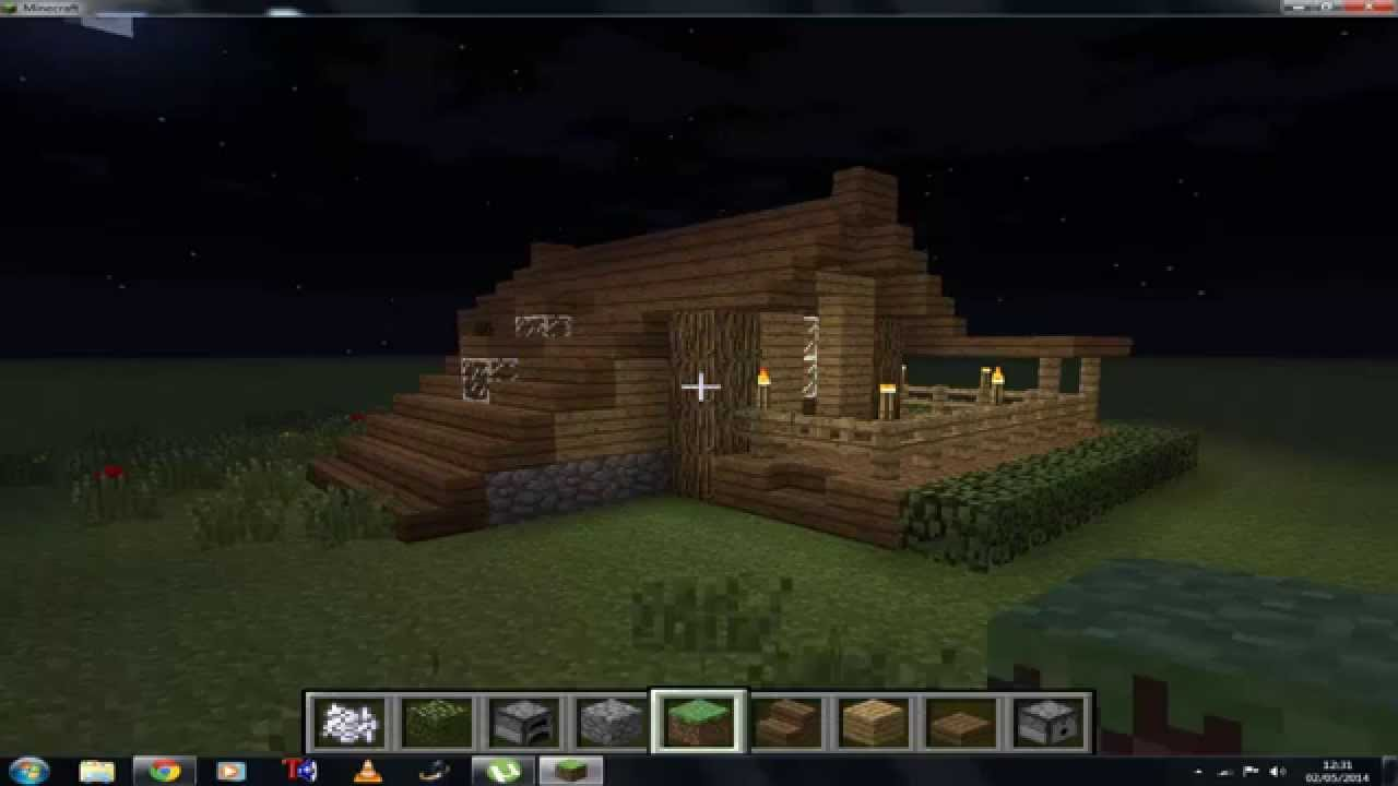 Cancello Di Legno Minecraft : Minecraft migliore casa iniziale in legno ita hd youtube