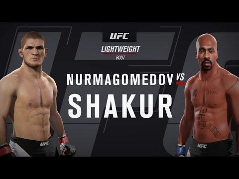 Khabib Nurmagomedov vs. Tupac Shakur (EA sports UFC 2) - CPU vs. CPU
