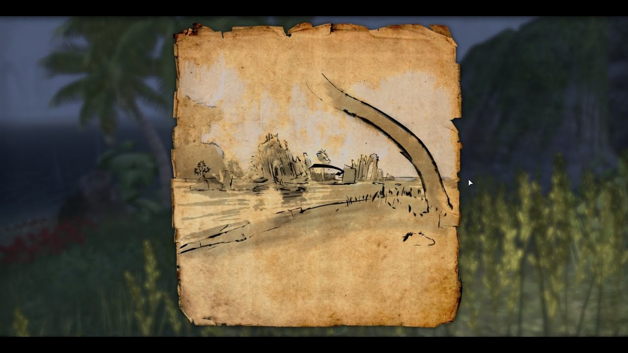 Elder Scrolls Online Grahtwood CE Treasure Map - YouTube