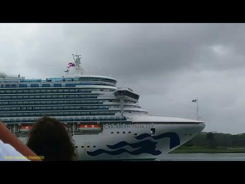 CARIBBEAN PRINCESS   Panama Canal Sailaway   January 18, 2020