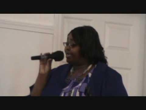 Patricia Jones Nye singing at Jonnie Bolden's Home...
