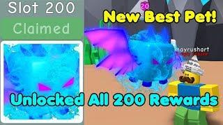 Unlocked All 200 Atlantis Rewards! Got Atlantis Overlord! Max Level & Enchant - Bubble Gum Simulator