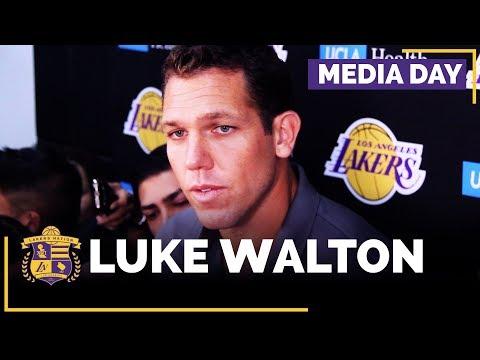 Lakers Media Day: Luke Walton (FULL INTERVIEW)