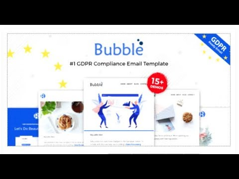 ubble - GDPR Compliance Responsive Email Notification - Online |  Themeforest Templates