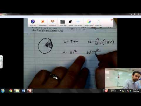 Introduction To Arc Length & Sector Area Of A Circle