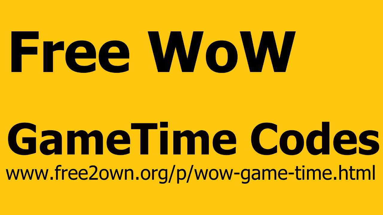 How to get free gametime ? : wow - reddit