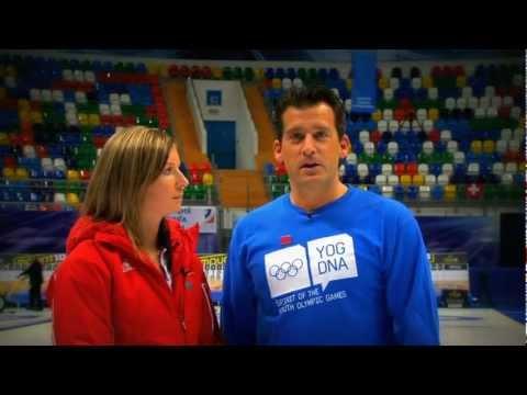 YOG Innsbruck 2012 - Curling Athlete Role Models - Eve Muirhead (GBR) & Uli Kapp (GER)