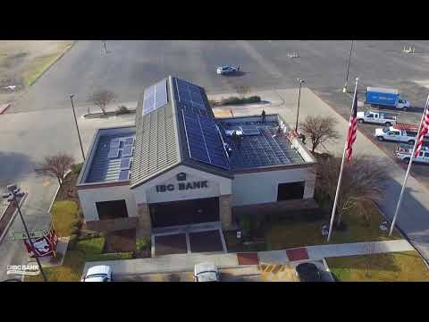 IBC Bank Solar Panel Installation