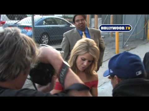 Cheryl Hines Shows Up At The Jimmy Kimmel Show