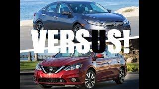 Honda CIVC vs. Nissan SENTRA, cual es MEJOR?