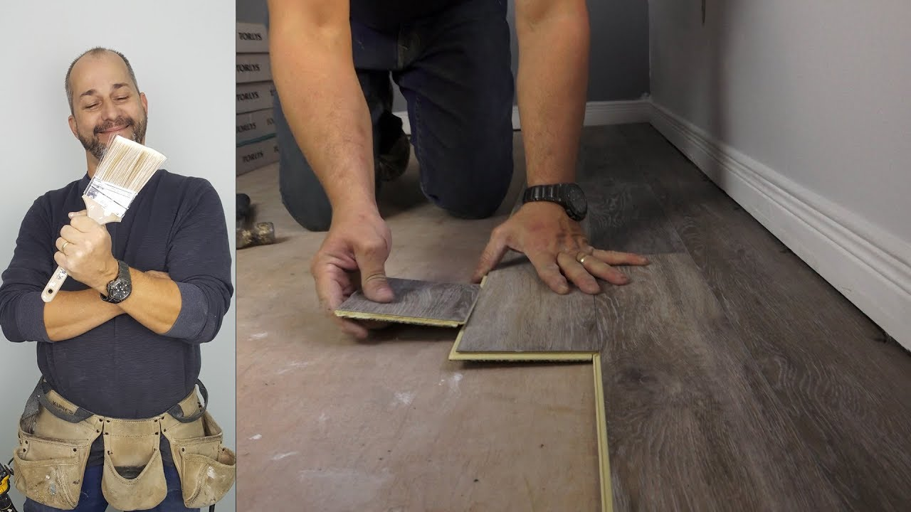 How To Install Vinyl Plank Flooring Quick And Simple Youtube